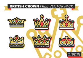 Britische Crown Free Vector Pack