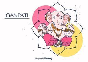 Ganpati Vector Bakgrund