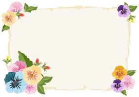 Pansy Color Pattern Background vetor