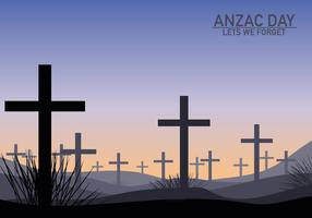 Anzac Grave Celebration Background vector