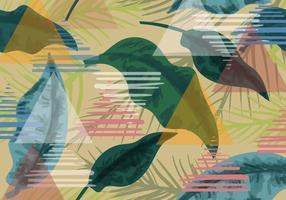 Sömlös exotisk mönster bakgrund vektor