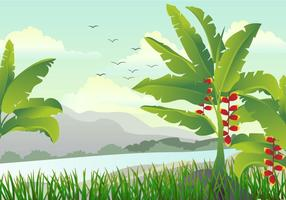 Illustration de Scene With Banana Tree