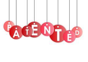 Patentiertes rotes Vektorzeichen