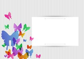 Vector Butterflies Background Design
