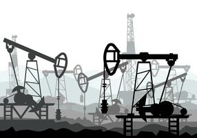 Oil Field Vector Illustration