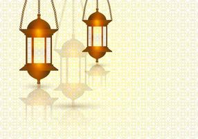 Ramadhan Light In The Template Of Background