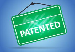 Sign Of Patented In Green Board