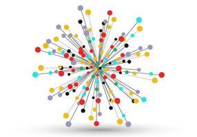 Geometrische Zonnestraal Abstracte Vector Set