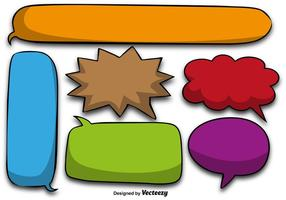 Colorful Cartoon Speech Bubbles - Vector