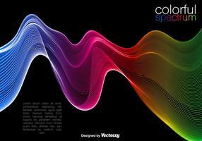 Fond coloré aux vagues colorées
