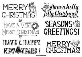 Letras lindas dibujadas mano de la Navidad