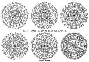 Cute Hand Drawn Mandala Shape Collection