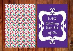 Cartão de aniversário bonito do às bolinhas vetor