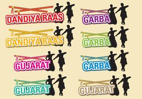 Dandiya Titles vector
