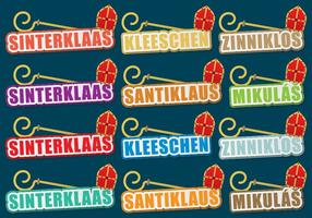 Sinterklaas Titles vector