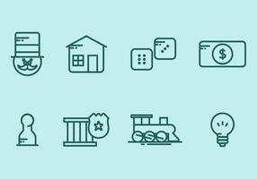 Monopoly Icon Set vector