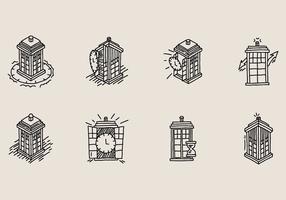 Hand gezeichnetes Vektor Tardis Icon