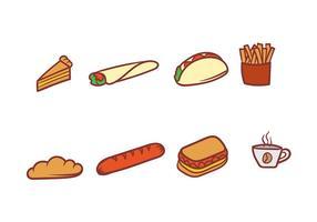 Ensemble d'icônes vectorielles alimentaires