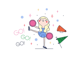 Vector Cheerleader gratuit