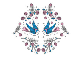 Free Bird Embroidery Vector