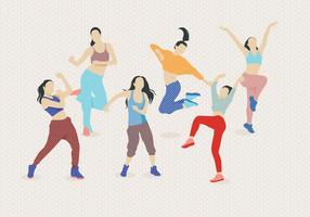 Zumba Tanzender Vektor