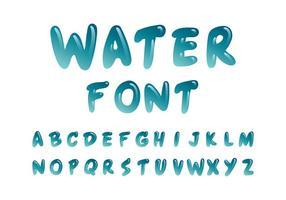 Vector Water Lettertype