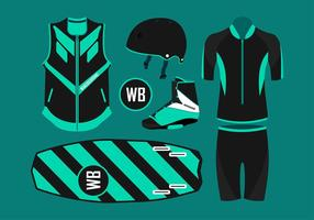 Wakeboard Equipment Free Vector