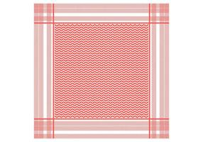 Keffiyeh Red Seamless Pattern  vector