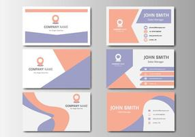 Gratis Business Vintage Name Card Vector