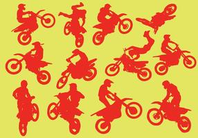 Silhouette Of Motorcross vector