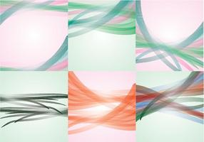 Abstract swoosh background vectoriel coloré