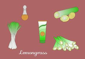 Citrongräs Vector Elements.