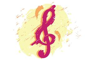 Clé de violon artistique