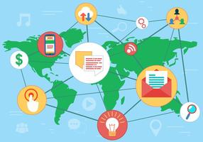 Kostenlose Social Media Networks Vector