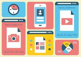 Ilustración vectorial libre de marketing de plantilla digital