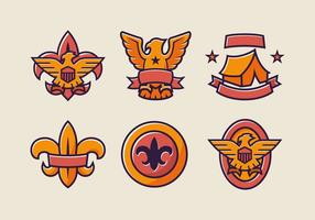 Eagle scout badge kleur vector pack