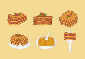 Lasagna food vector illustration