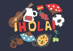 Funny Spanish Elements vector