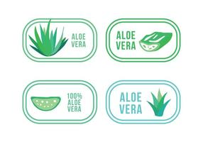 Set of Aloe and Maguey Logos vector