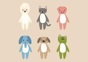 Animal Plushes vector