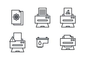 Stuff for Printers vector