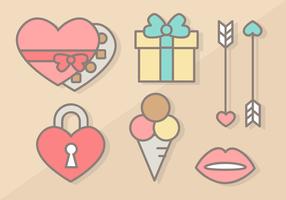 Vectoriales de los elementos del Día de San Valentín