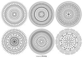 Collection Mandala Style Vector Shapes