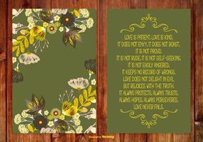 Liebe ist nette Gedicht-Karte