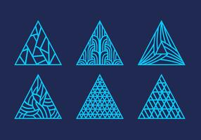 Laser cut abstract triangle pattern ornament vector