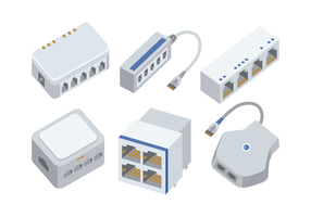 RJ45 S-Bus cable vector pack