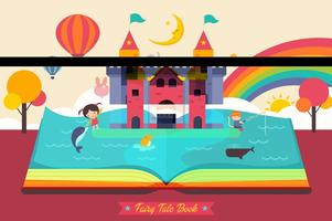 Gratis Fairy Tale Open Book Vector