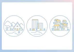 Home-outline-icons-vector