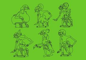 Illustrations vectorielles wayang 3