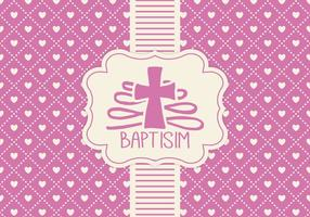 Plantilla rosada de la tarjeta de Baptisim